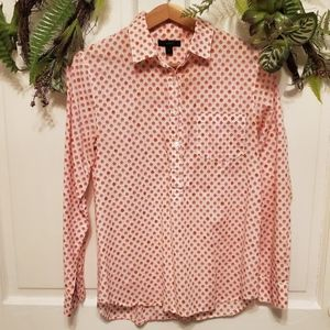 J. Crew Button Down Shirt with Flower Print